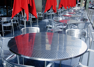 Village St George, LA Stainless Table