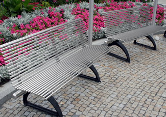 St Gabriel, LA Stainless Steel Bench
